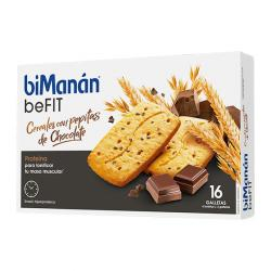 BE FIT GALLETAS CEREALES CON PEPITAS DE CHOCOLATE (16uds)