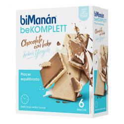 BEKOMPLETT SNACK Chocolate con Leche Yogur (6 SNACKS)