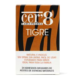 CER 8 Parches Antimosquitos Tigre (24uds)