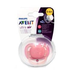 CHUPETE ULTRA-AIR SILICONA PIELES SENSIBLES 0-6M color ROSA