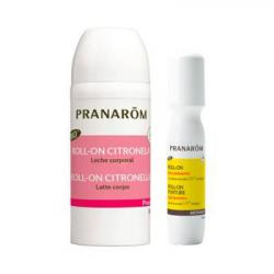 DUO PRANABB ROLL-ON CITRONELLA LECHE CORPORAL BEBÉ +6M (30ML) + AROMAPIC ROLL-ON GEL CALMANTE BIO (15ML)