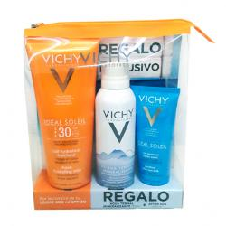 IDÉAL SOLEIL Leche Cara y Cuerpo SPF30 (300ml) + Agua Termal (150ml) + After SUN (100ml) REGALO!!