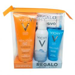 Ideal Soleil Leche Cara y Cuerpo SPF50 (300ml) + Agua Termal (150ml) + After SUN (100ml) REGALO!!