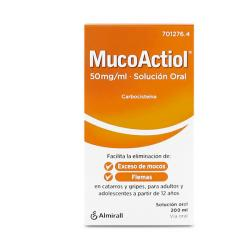 MUCOACTIOL MUCOLITICO Adultos Oral 50mg/ml (200ml)