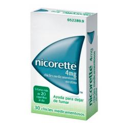 NICORETTE 4mg CHICLES MEDICAMENTOSOS