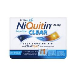 NIQUITIN CLEAR 21mg/24 HORAS PARCHES TRANSDERMICOS