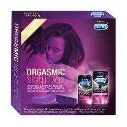 ORGASMIC BOX Intense Orgasmic (12 preservativos) + GEL Intense Orgasmic (10ml ) + Pluma + Cinta