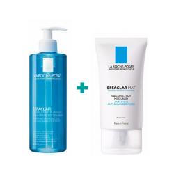 PACK EFFACLAR: GEL LIMPIADOR PURIFICANTE (400ML) + MAT ANTI BRILLOS (40ML)