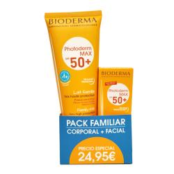 PACK FAMILIAR PHOTODERM MAX SPF 50+ LECHE FAMILIAR (250ML) + AQUAFLUIDE (40ML)