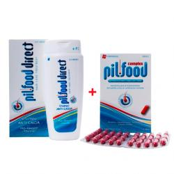 Pack Pilfood Complex (120comp) + Champú Pilfood Direct (200ml)