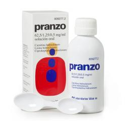PRANZO 62,5 / 1,25 / 0,5mg/ml SOLUCION ORAL (200ml)