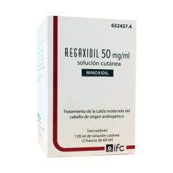 REGAXIDIL 50mg/ml SOLUCION CUTANEA  (2 frascos de 60ml)