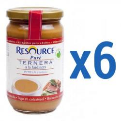 RESOURCE Puré Ternera a la Jardinera (6x300g) - para Adultos