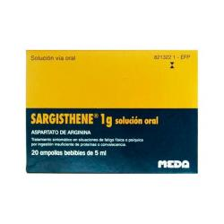 SARGISTHENE 1g ORAL (20 bebibles de 5ml)