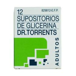 SUPOSITORIOS DE GLICERINA DR. TORRENTS ADULTOS BOTE (12uds)