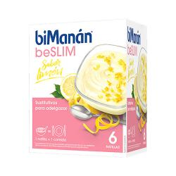 Sustitutive beSLIM Natillas Limón (6 sobres)