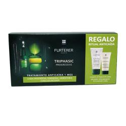 TRIPHASIC PROGRESSIVE (8 Ampollas) + CHAMPÚ PROGRESSIVE (50ml) + BÁLSAMO TRIPHASIC (30ml) de REGALO!