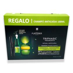 TRIPHASIC PROGRESSIVE (8 Ampollas x 5.5ml) + CHAMPÚ ANTICAÍDA (100ml) de REGALO!