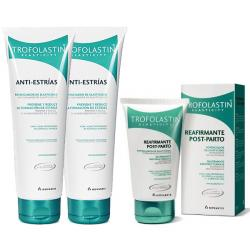 TROFOLASTIN Antiestrías (250ml x 2 UNIDADES) + Reafirmante Post-Parto (200ml)