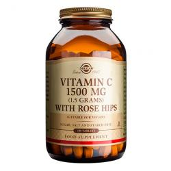 Vit.C con Escaramujo (Rose Hips) 1500mg (180comp)