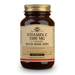 Vit.C con Escaramujo (Rose Hips) 1500mg (90 comp)