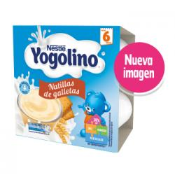 Yogolino Natillas de Galleta 6M (4x100g)