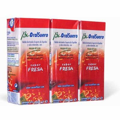 Bioralsuero Fresa Pack  (3 x 200ml)