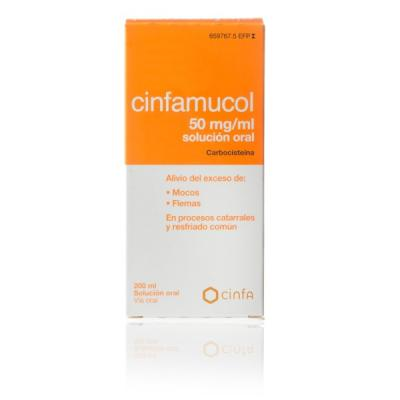CINFAMUCOL CARBOCISTEÍNA 50mg/ml SOLUCION ORAL (200ml)