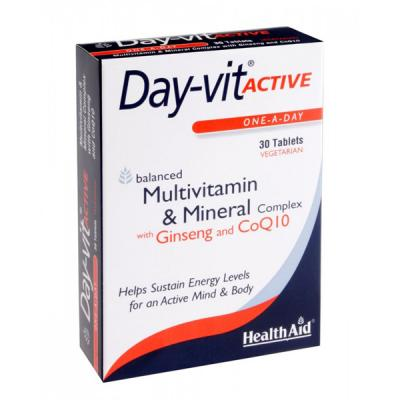 Day-Vit Active con Ginseng y CoQ10 (30comp)