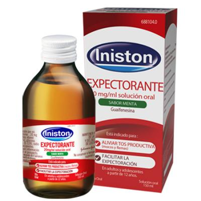 INISTON EXPECTORANTE 20mg/ml SOLUCION ORAL SABOR MENTA (150ml)
