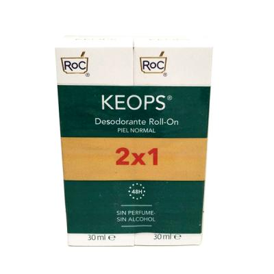 Keops Desodorante Roll-on Piel Normal  (30ml x 2 UNIDADES)