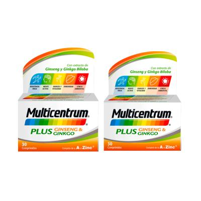 MULTICENTRUM PACK PLUS GINSENG Y GINKGO (2 UNIDADES X 30comp)
