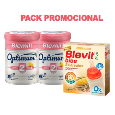 PACK BLEMIL PLUS OPTIMUM 2 (800g+800g) + BLEVIT PLUS 8 CEREALES (600g) de REGALO!!