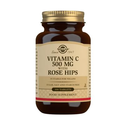 Rose Hips - Vit.C 500mg con Escaramujo (100comp)