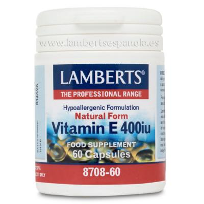Vitamina E 400 UI (60 caps)