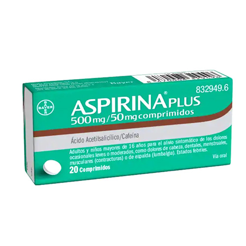 ASPIRINA PLUS 500mg/50 mg (20comp)