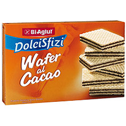 "DolciSfizi Barquillos al Cacao ""Wafers"" 175 g."