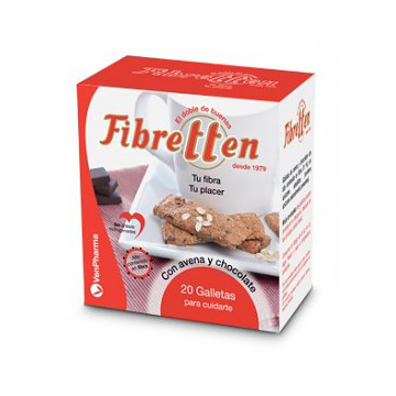 FIBRITTEN GALLETAS de AVENA y CHOCOLATE (20 Galletas)