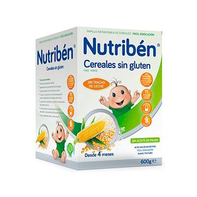 Nutriben papilla cereales sin gluten 600g farmacia online farmacia soler - Cereales sin gluten bebe 3 meses ...